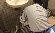 男性脱衣所水道修理完了!